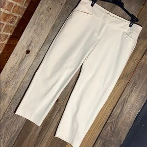 White cropped dress pants!